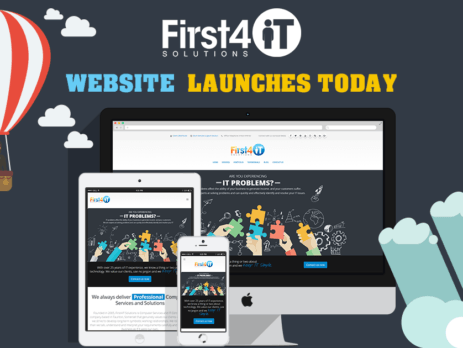 First4IT Solutions - New Website Launch Image